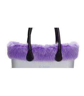 Bordo Ecopelliccia volpe Lilla blu per O Bag