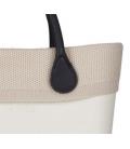 Bordo lana punto riso beige per O Bag mini
