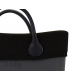 Bordo lana punto riso nero per O Bag mini