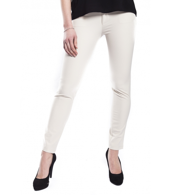 RINASCIMENTO Pants with zip PANNA Art. CFC0072781003