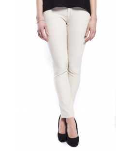 RINASCIMENTO Pants with zip PANNA Art. CFC0072781003