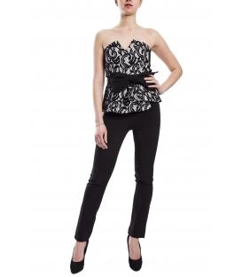 RINASCIMENTO Tuta donna con ricamo + cintura BLACK CFC0073556003