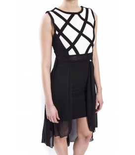 RINASCIMENTO Dress woman BLACK with white details CFC0072657003
