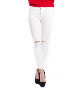 RINASCIMENTO Jeans slim fit con strappi BIANCO Art. CFC0072327003