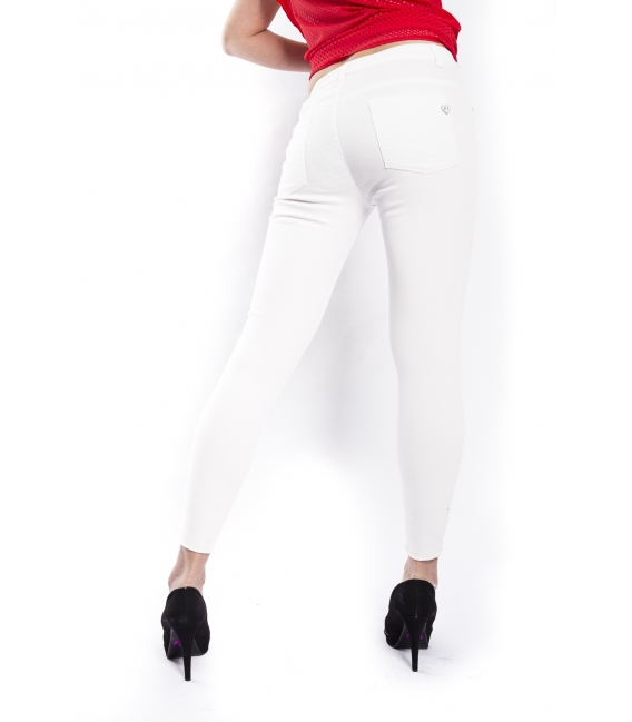 RINASCIMENTO Jeans slim fit with rips WHITE Art. CFC0072327003