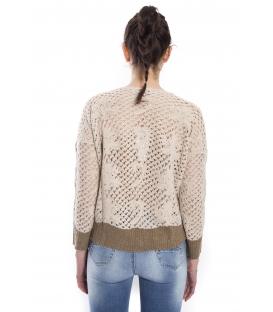 RINASCIMENTO Perforated jersey BEIGE Art. CFM007568003