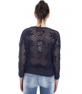 RINASCIMENTO Perforated jersey BLUE Art. CFM007568003
