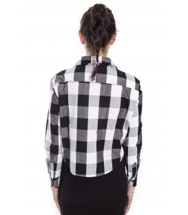 STK SUPER TOKYO Shirt tartan WOMAN with print BLACK STKD118