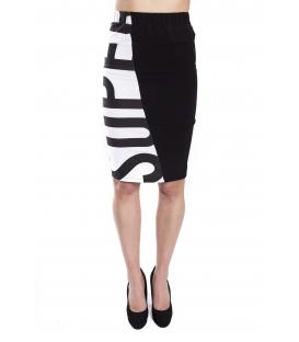 STK SUPER TOKYO Skirt WOMAN with print BLACK STKD095
