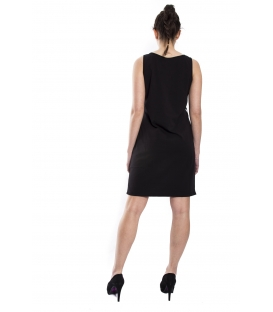 STK SUPER TOKYO Short dress WOMAN with print BLACK STKD097