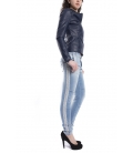 MARYLEY Jeans woman boyfriend baggy with zip DENIM Art. B501/G3F
