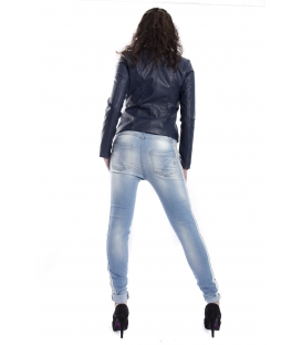 MARYLEY Jeans woman boyfriend baggy with zip DENIM Art. B501/G3F