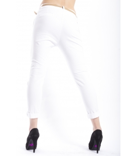 ZIMO Pants woman boyfriend baggy WHITE Art. 3015