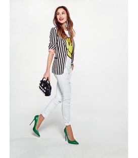 DENNY ROSE Pantalone / Jeans con strappi NERO 63DR12008