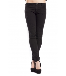 DENNY ROSE Pants / Jeans with rips BLACK 63DR12008