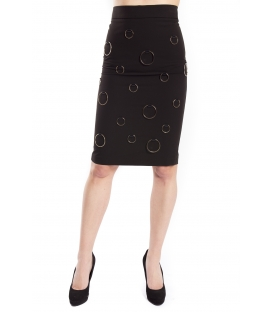 DENNY ROSE Skirt longuette BLACK Art. 63DR17001