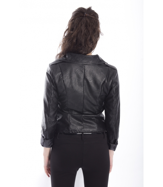 ZIMO Jacket in eco-leather BLACK Art. 2431