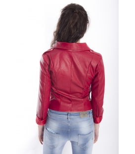 ZIMO Jacket in eco-leather RED Art. 2431