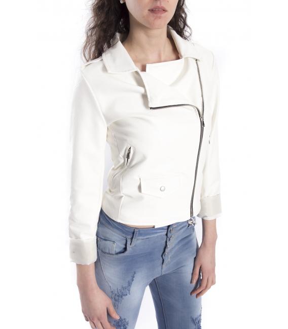 ZIMO Jacket in eco-leather WHITE Art. 2431