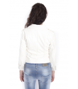 ZIMO Jacket in eco-leather WHITE Art. 2431