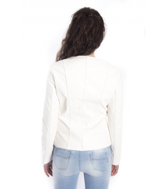 ZIMO Jacket in eco-leather WHITE Art. 16218
