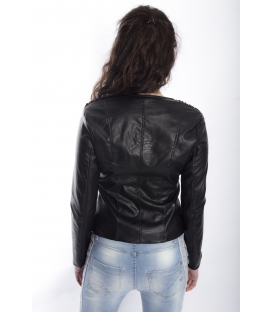 ZIMO Jacket in eco-leather BLACK Art. 16218