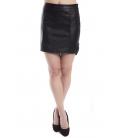 ZIMO Skirt in eco-leather with zip BLACK Art. 2286