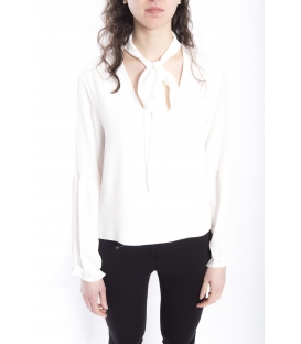 ZIMO Blouse / Shirt with bow WHITE Art. 2336