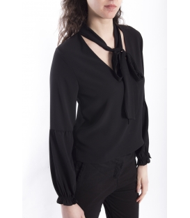 ZIMO Blusa / Camicia con fiocco BLACK Art. 2336