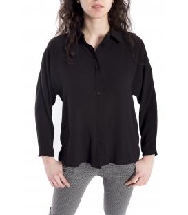 Camicia DONNA con bottoni NERO Art. 9140