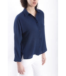 Shirt WOMAN with buttons BLUE Art. 9140