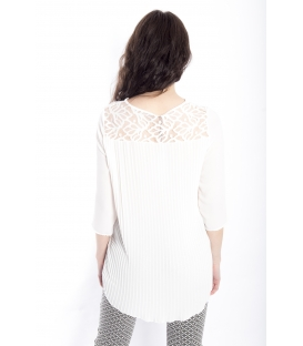 Blouse WOMAN with plissé WHITE Art. 41591