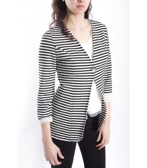 Jacket blazer with stripes BLACK / WHITE Art. 1041