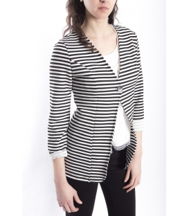 Jacket blazer with stripes BLACK / WHITE Art. 1041
