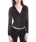 Jacket with lace BLACK Art. J603PI23