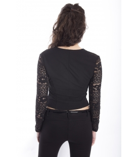 Jacket with lace BLACK Art. J603PI23