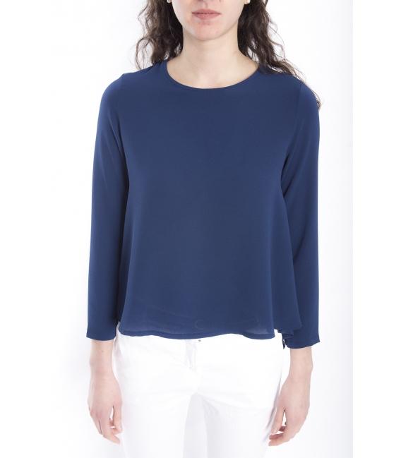 Jersey WOMAN asymmetric BLUE Art. 6076