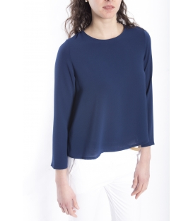 Jersey WOMAN asymmetric BLUE Art. 6076