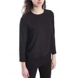 Jersey WOMAN asymmetric BLACK Art. 6076