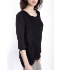 Jersey WOMAN with lace BLACK Art. 50079