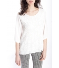 Jersey WOMAN with lace WHITE Art. 50079
