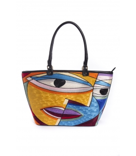 ARTE A SPASSO Bag with eco-leather details FANTASY
