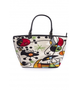 ARTE A SPASSO Bag with eco-leather details FANTASY black