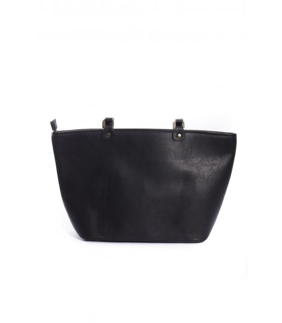ARTE A SPASSO Bag with eco-leather details FANTASY black