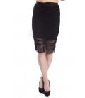 DENNY ROSE black skirt draped longuette 63DR17000