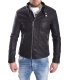 GIANNI LUPO Jacket in eco-leather BLACK Art. GL005