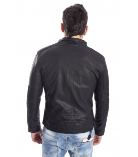 GIANNI LUPO Jacket in eco-leather BLACK Art. GL005