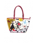 ARTE A SPASSO Bag with eco-leather details FANTASY red