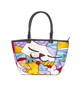ARTE A SPASSO Bag with eco-leather details FANTASY lilla