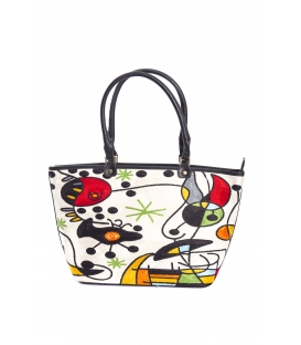 ARTE A SPASSO Bag with eco-leather details FANTASY white